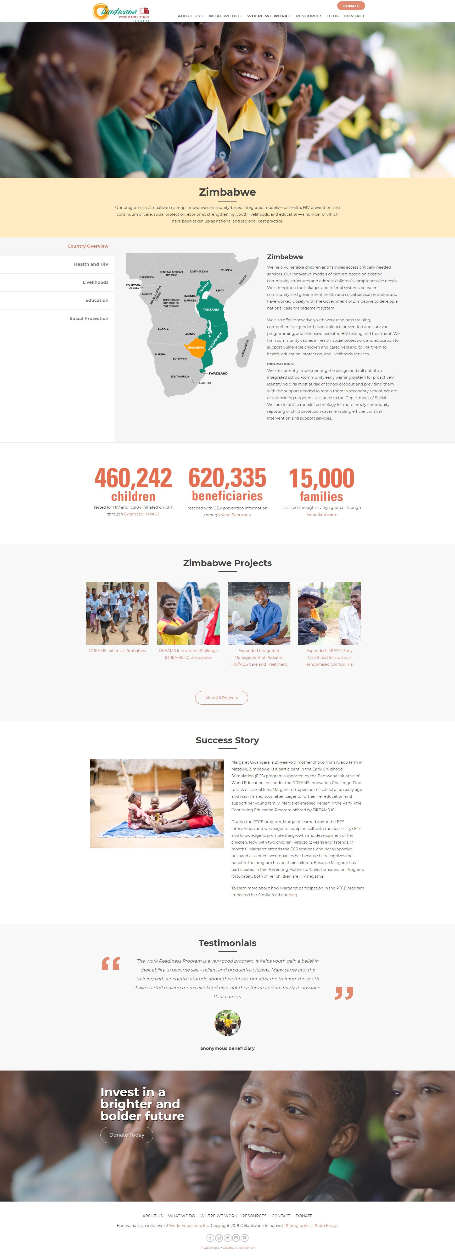 Bantwana - Enterprise Website Development and Design Project
