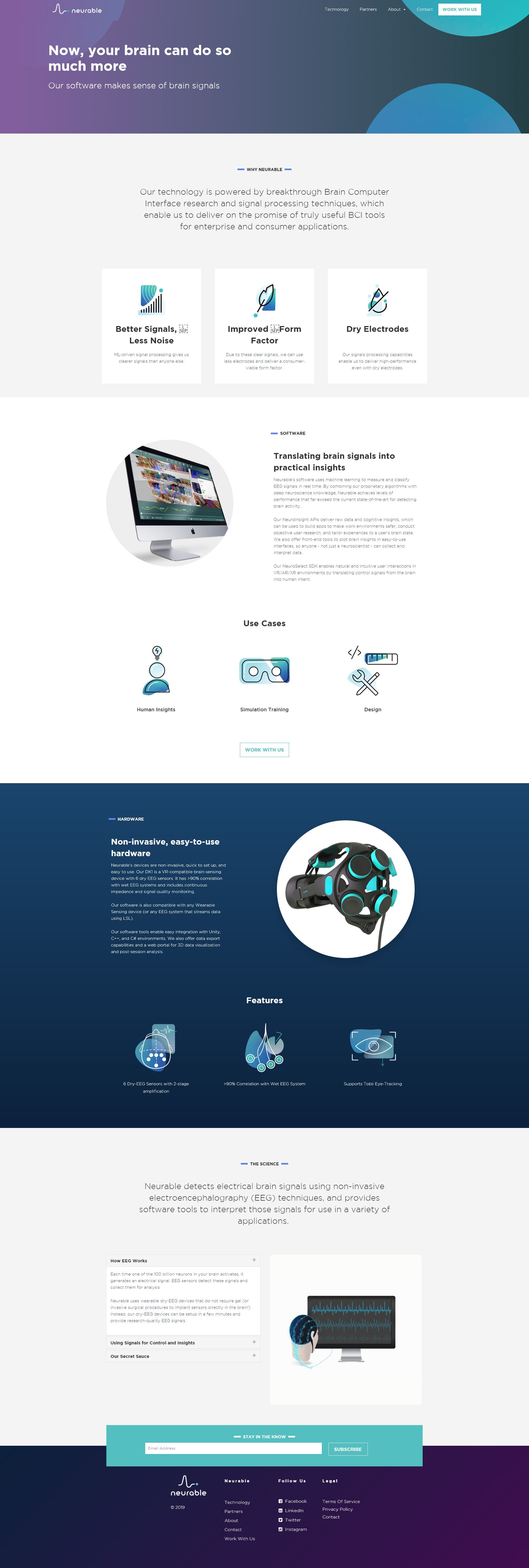 Neurable Enterprise Website Development and Design Project