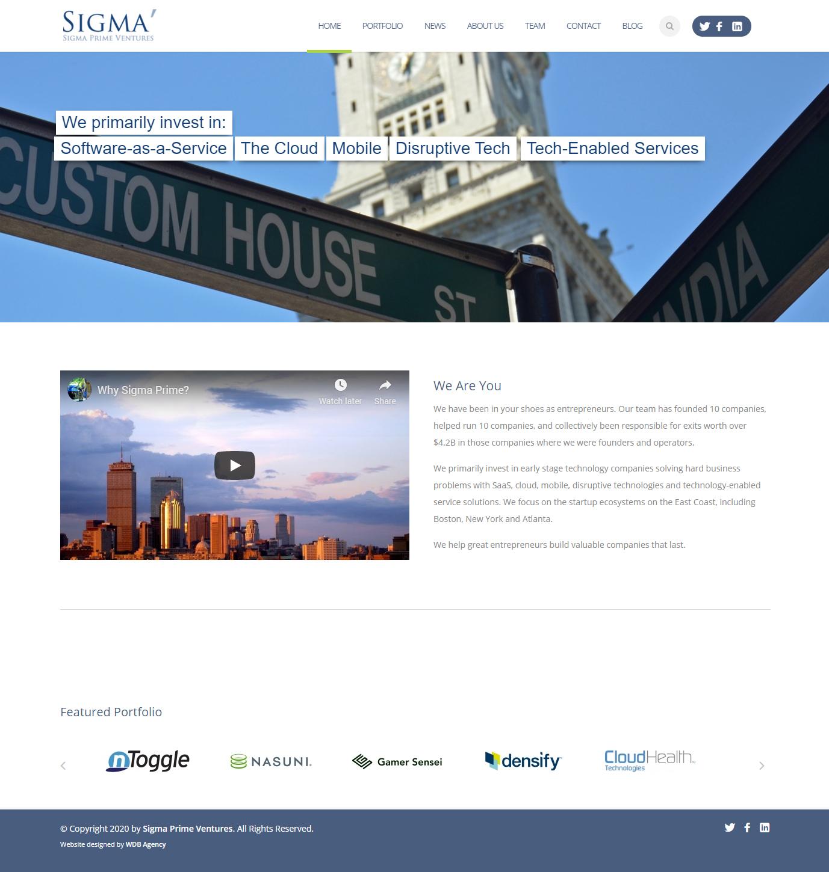 Sigma Prime Enterprise Website Development and Design Project