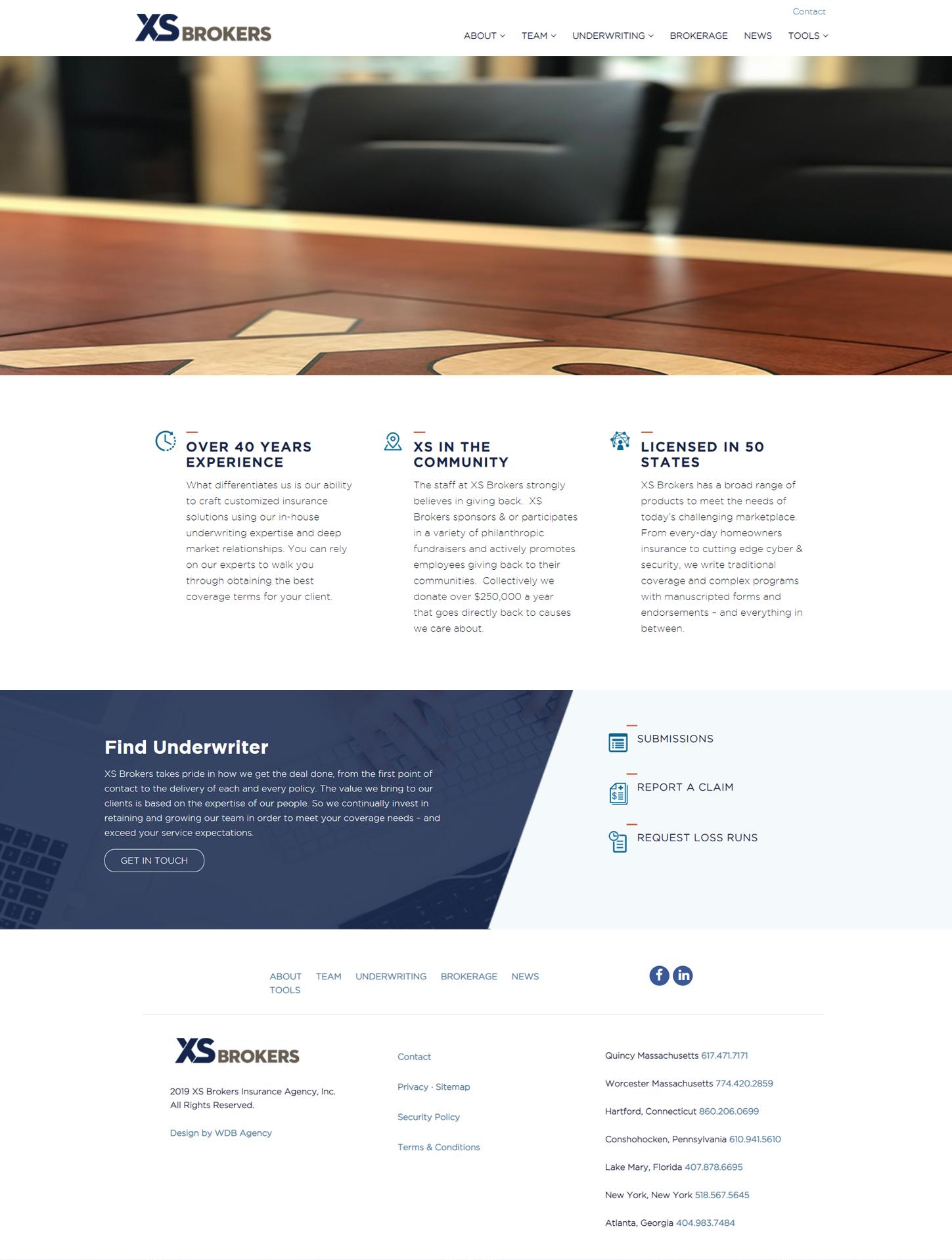 XSbrokers website development and design project