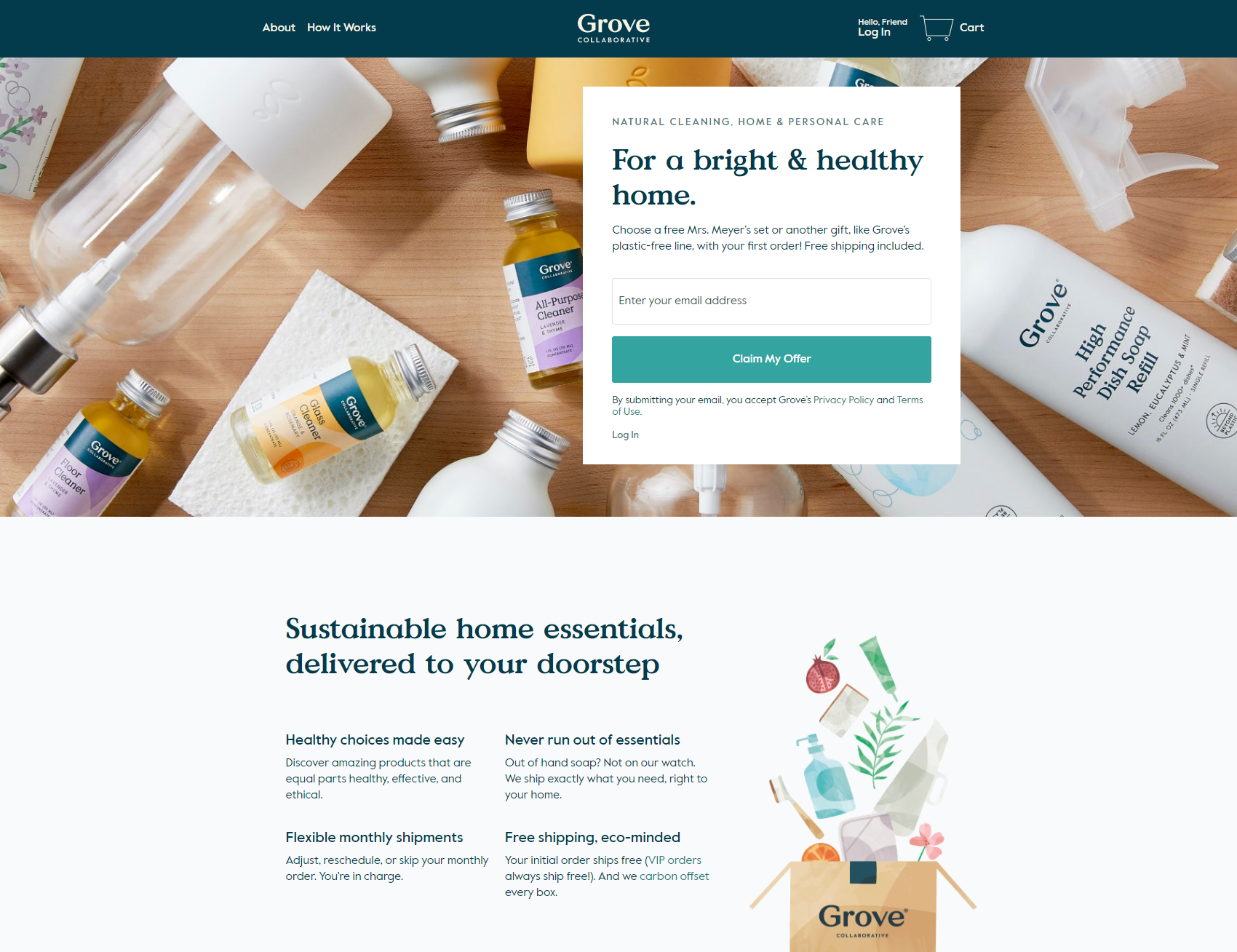 Sustainable home essentials, delivered to your doorstep